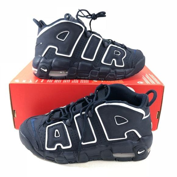 Nike Air More Uptempo Navy Blue Black White (GS) 2eb8beeb6e